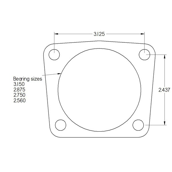 """10/12 bolt """"hybrid"""" end with Ford 3.150 bearing"""