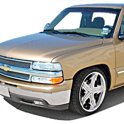 2001-04 Silverado/Sierra 1500 w/Single Piston Rear Caliper