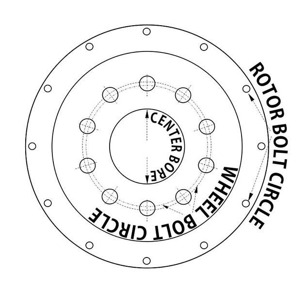 """9.45"""" Rotor Bolt Circle"""