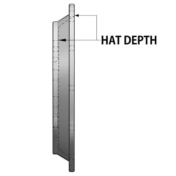 "1.358"" Hat Depth"