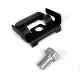 Retaining clip with optional mounting bolt
