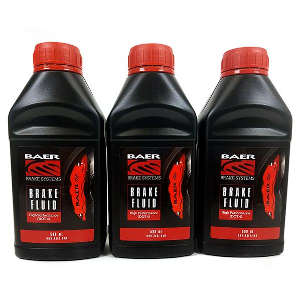 Baer Street/Race DOT4 Brake Fluid, 3 pack