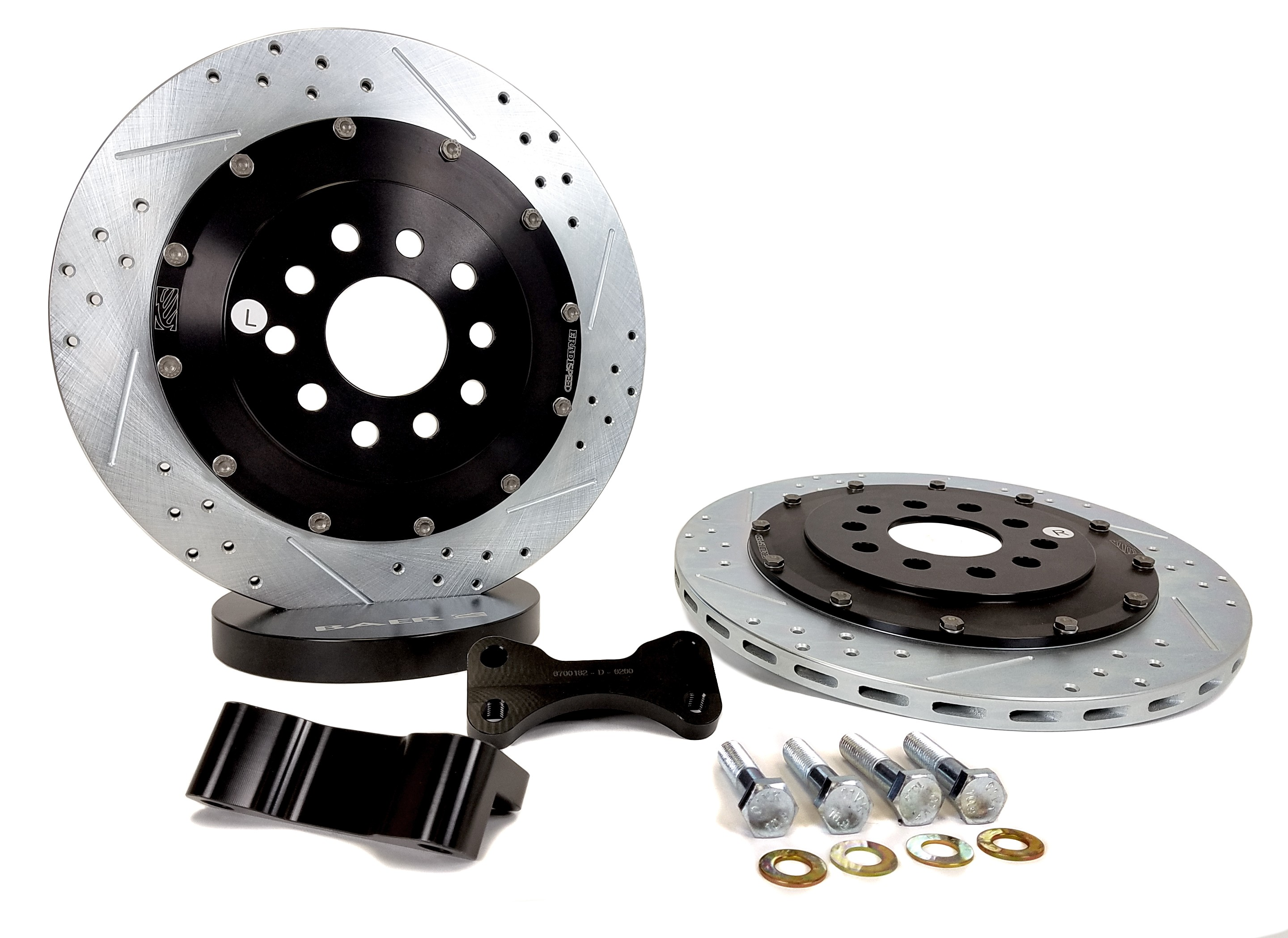 "Rear 14"" 2005-2014 Rear EradiSpeed+1 Rotor Upgrade for Ford Mustang"