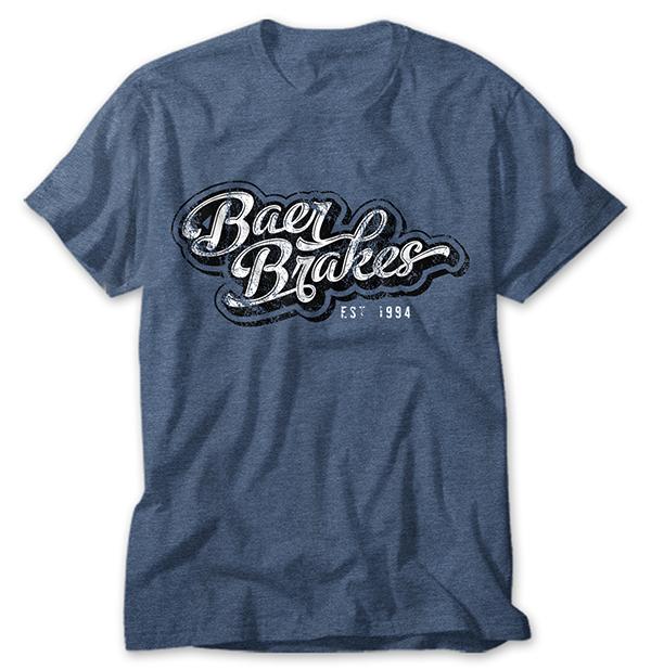 Premium Retro Vintage Baer Brakes Shirt - Blue