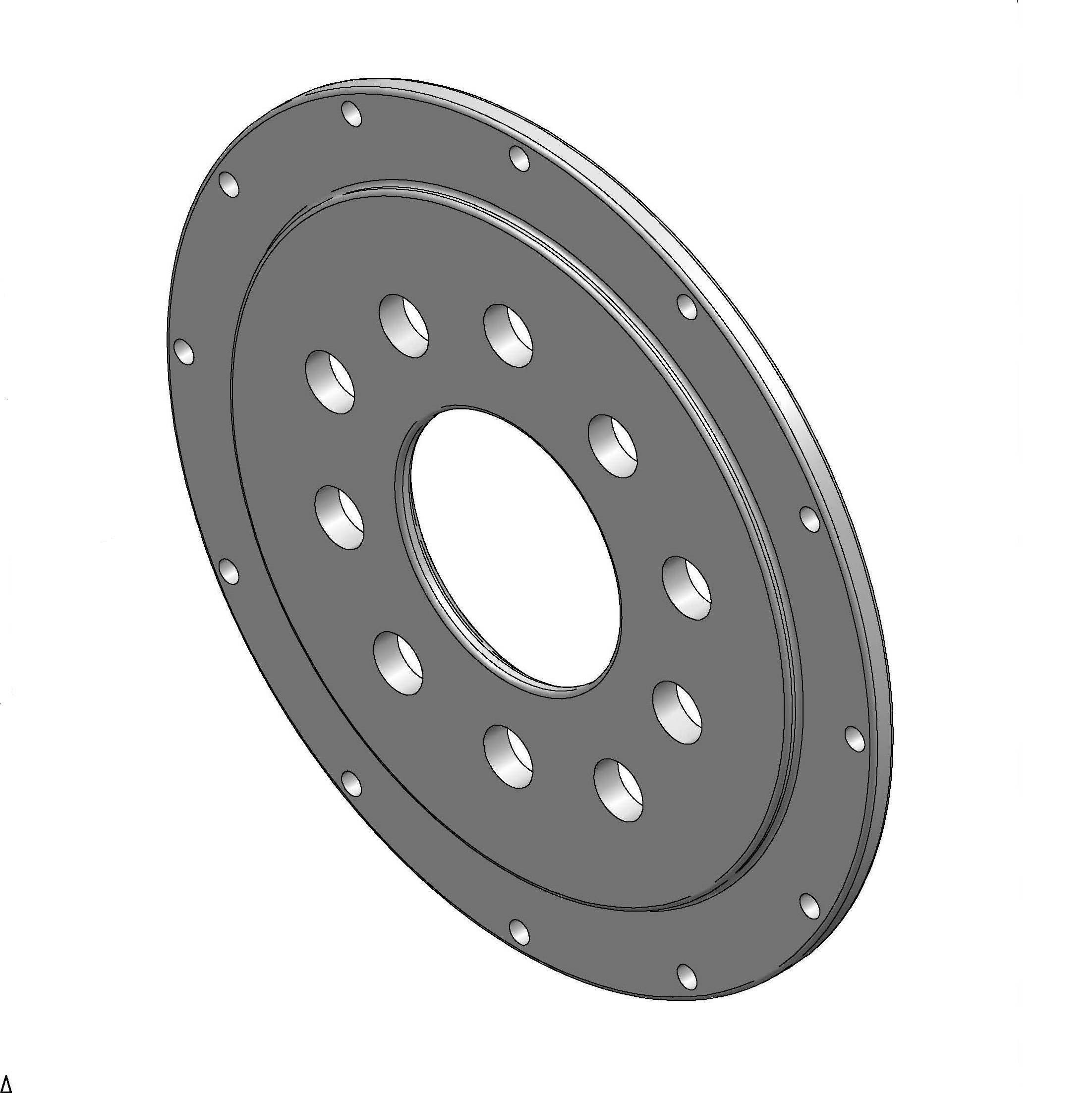 5-Lug Rotor Hat w/o Park Brake Drum