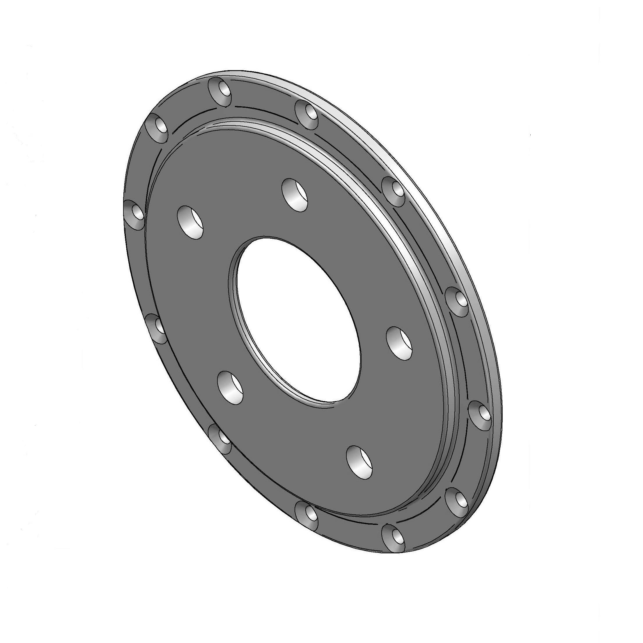 5-Lug Rotor Hat w/Park Brake Drum