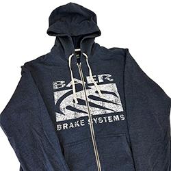 District, Navy Blue Vintage Baer Logo Zip Hoodie