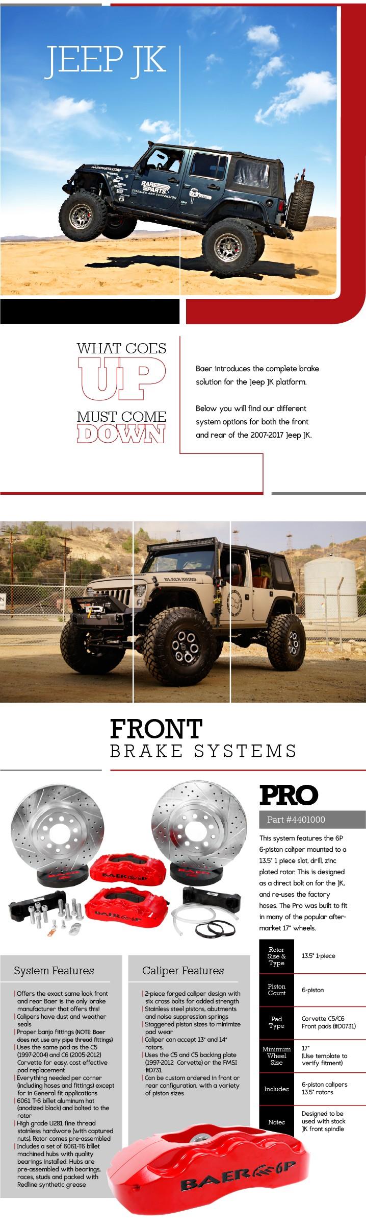 Performance Brake Upgrades for Jeep JK - Baer Brakes