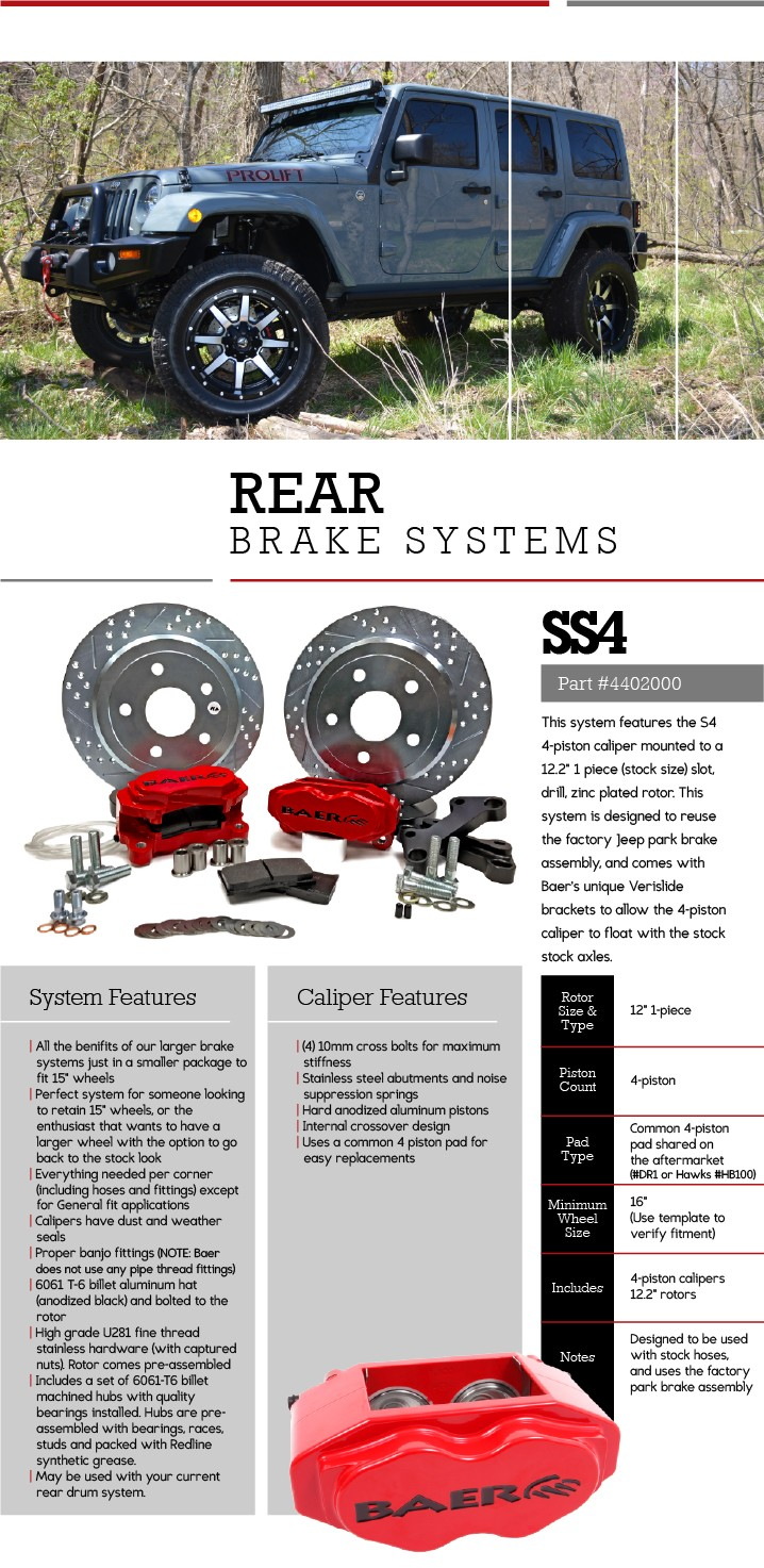 Upgraded Brakes for Jeep JK - Baer Brakes